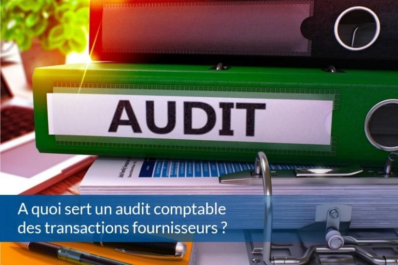 A quoi sert un audit comptable des transactions fournisseurs