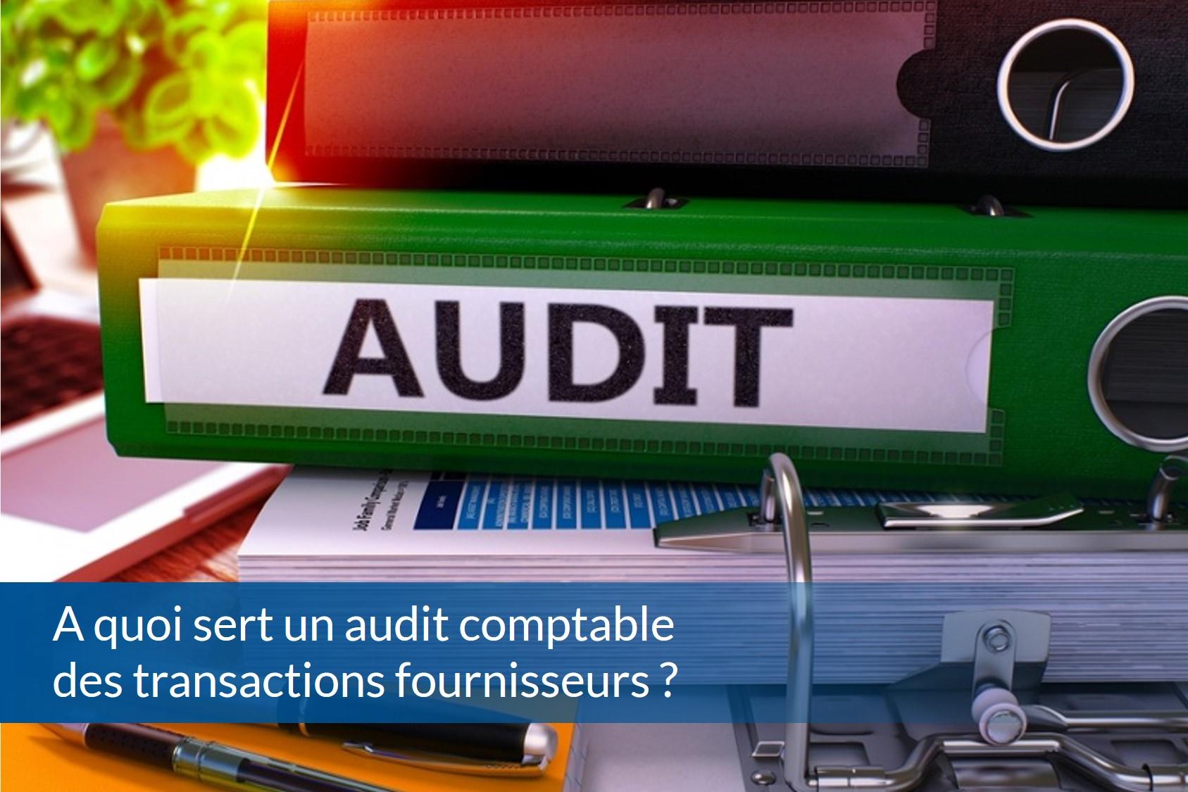 audit comptable des transactions fournisseurs
